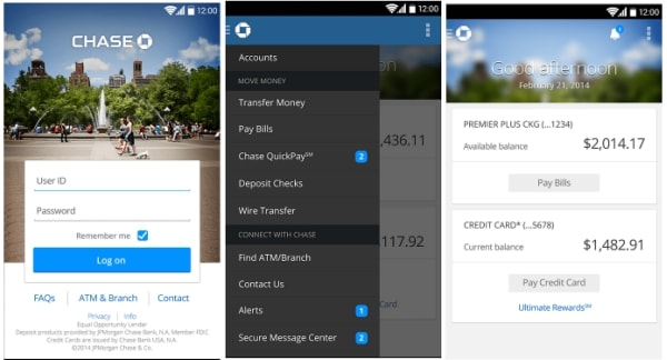 Chase Bank Online on Android